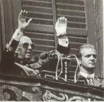 Franco og (kong) Carlos side ved side 1975.