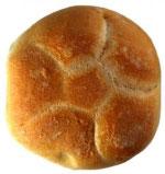 Et helt brød om dagen.