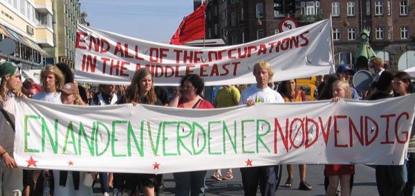 Internasjonal demonstrasjon i København den 1. august.