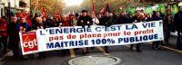 30.000 marsjerte i Frankrike i november mot velferskutt og privatisering. Klikk for større bilde.