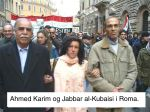 Abduljabbar al-Kubaisi. Bildet er fra en demonstrasjon i Roma.