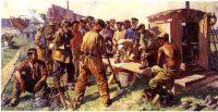 Anleggsarbeidere i det sosialistiske Sovjetunionen