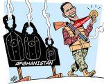 En skarpskyttermedalje fra Nobelkomiteen? Tegning: Carlos Latuff.